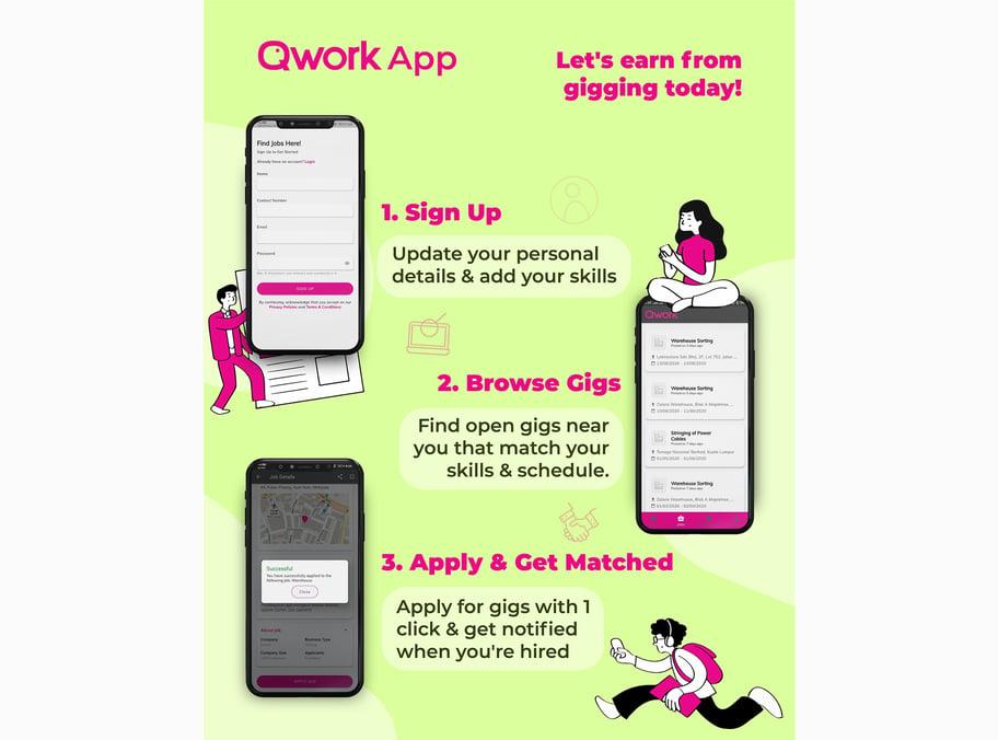 Qwork App Poster